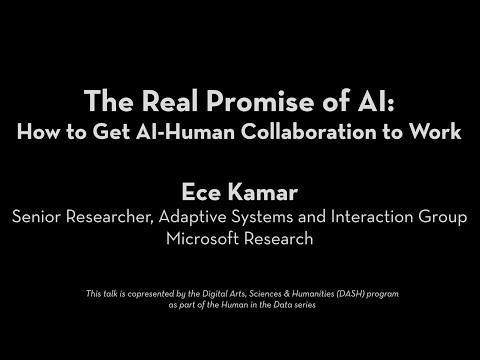 Human in the Data: Ece Kamar | The Real Promise of AI: How to Get AI-Human Collaboration to Work?