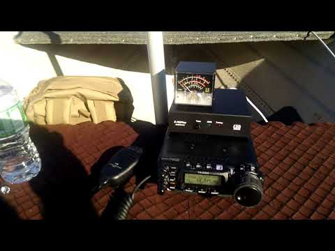 Ham radio Maritime Mobile with my Military 2.0 antenna