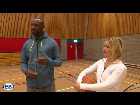 Basketballen met de topscorer van de eredivisie