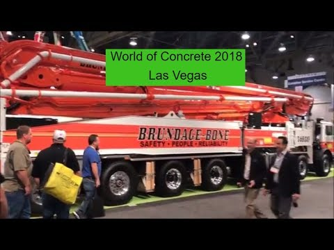 World of Concrete 2018 - Met Kasey Kahne - Las Vegas - Putzmeister- Golden Knights
