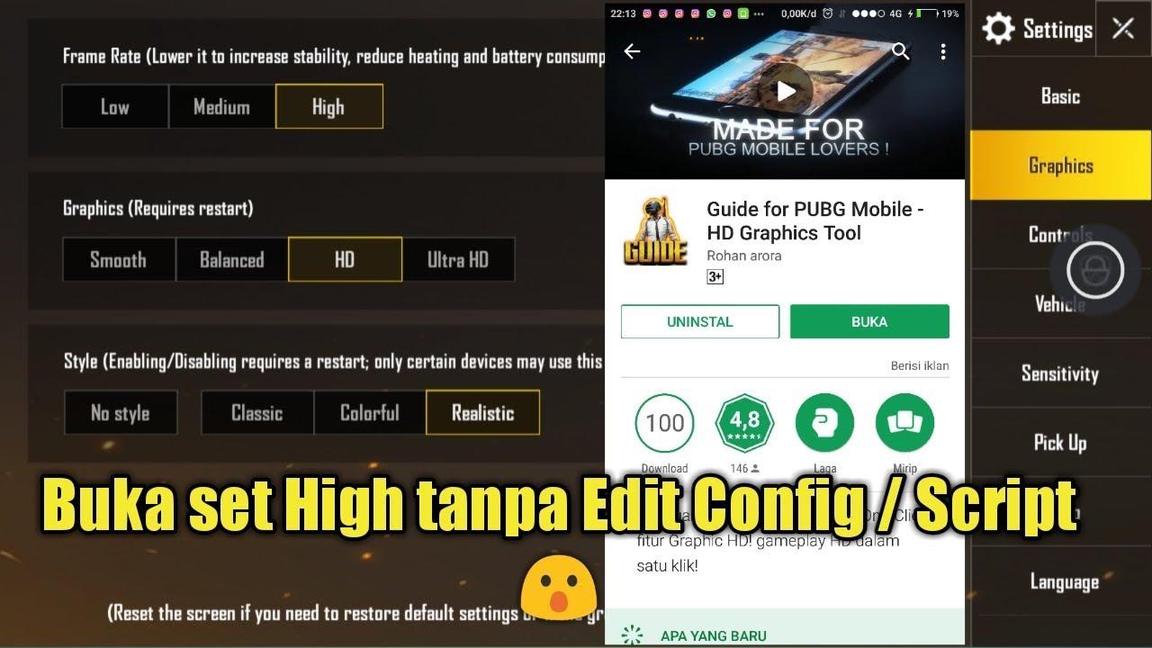 Config Pubg Hdr 0 7 0: Buka Setting High Tanpa Edit Config / Script Pubg Mobile