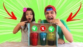 DESAFIO NÃO ESCOLHA O CANUDINHO ERRADO !!! Don´t Choose the Wrong Straw Challenge