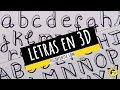 CÓMO DIBUJAR LETRAS EN 3D ORIGINALES?? LETRAS  PARA TÍTULOS y APUNTES
