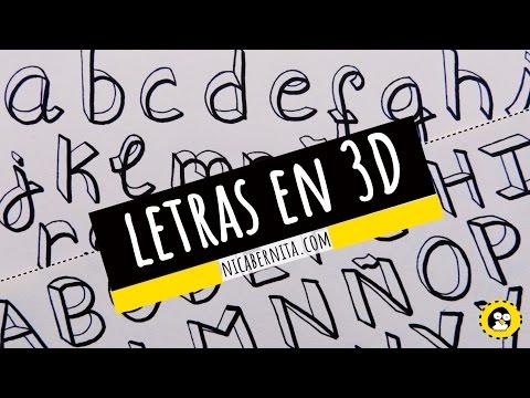 CÓMO DIBUJAR LETRAS EN 3D ORIGINALES🖌 LETRAS  PARA TÍTULOS y APUNTES