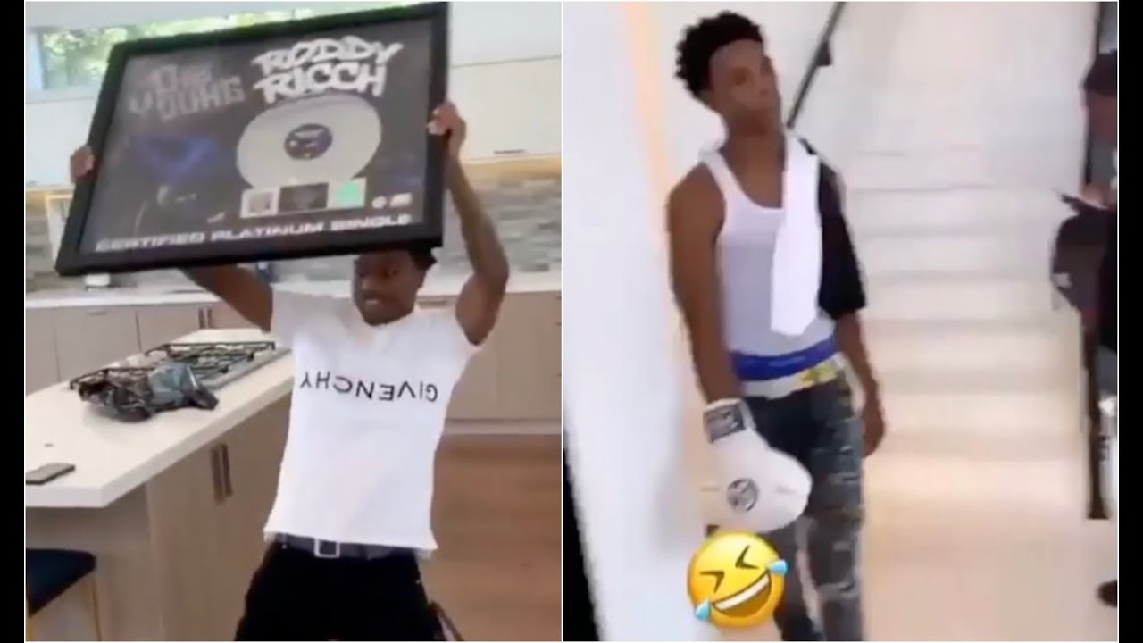 Tip Toe Roddy Ricch and A Boogie Getting Big Money After Receiving Platinum Plaque