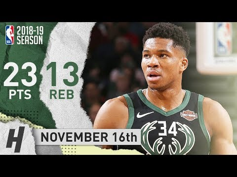 Giannis Antetokounmpo Full Highlights Bucks vs Bulls 2018.11.16 - 23 Points, 13 Reb