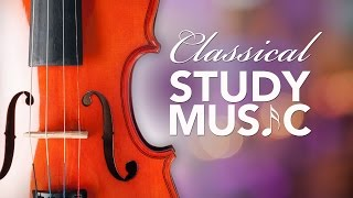 Studying music,  relaxing classical music, instrumental music for studying, alpha waves, ♫e095