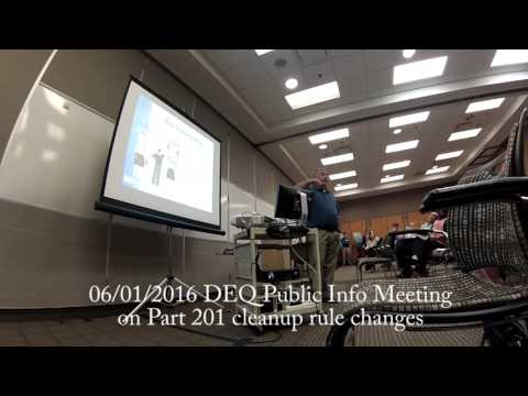 2016/06/01 DEQ Public Info Meeting on Part 201 cleanup standards changes