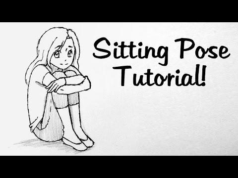 How To Draw Manga: Knee Hugging Pose