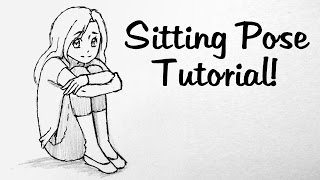 How to Draw Manga: Knee Hugging Pose