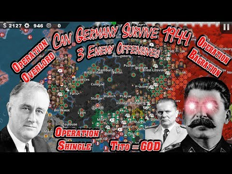 Can Germany Withstand 3 Enemy Offensives At Once; 3 Front War! Germany 1944