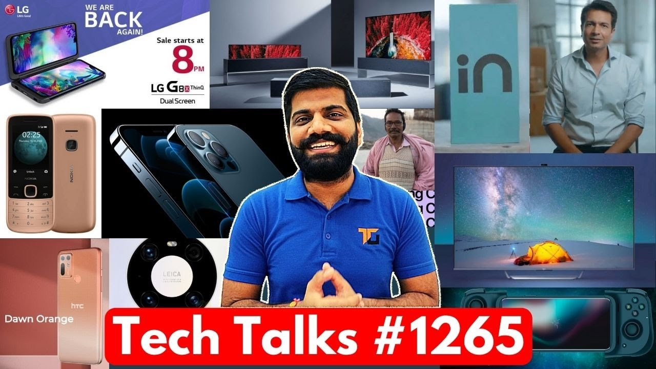 Tech Talks #1265 - OnePlus 9, Most Gaming in India, iPhone 12 Pro Made in India, LG G8x Sale, 215 4G