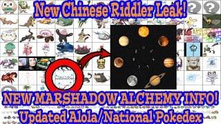 Pokemon Sun and Moon Leak - NEW MARSHADOW ALCHEMY THEORY! Chinese Riddler Updated Pokedex!