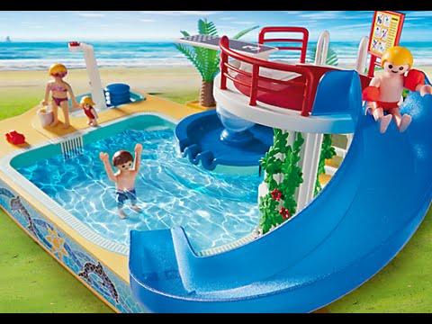Daniel en toboganes de piscina para ni os doovi for Playmobil piscina con tobogan