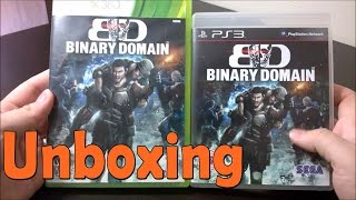 Binary Domain -  Xbox 360 \ PS3 - UNBOXING