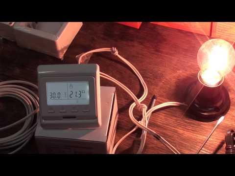 Терморегуляторы для теплых полов   Часть 3   Электронный, программируемый RTC E51.716