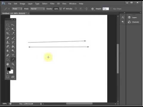 Уроки Adobe Photoshop CS6. Как нарисовать стрелку? Обзор параметров