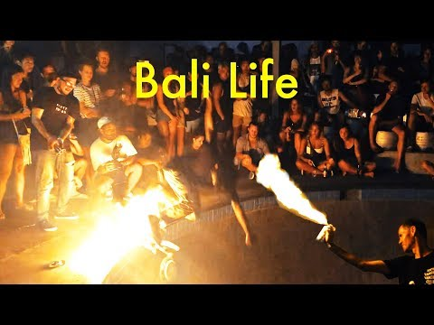 Insane Fire and Skateboard Party in Bali!