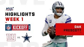 Dak Prescott's MONSTER Game w/ 405 Yds & 4 TDs | NFL 2019 Highlights