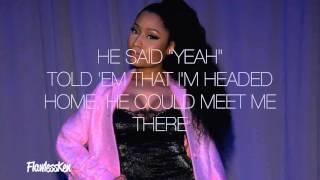 Nicki Minaj - Down In The DM remix Verse - Lyrics Video