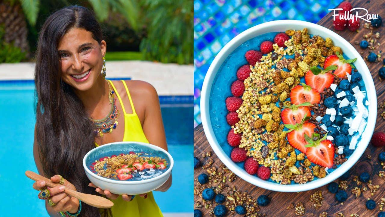 Fullyraw rainbow blueberry aca smoothie bowl recipe breakfast fullyraw rainbow blueberry aca smoothie bowl recipe breakfast lunch idea youtube forumfinder Images