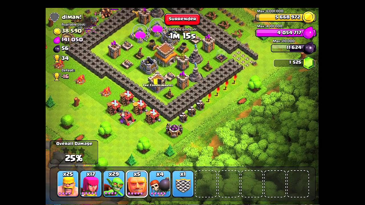 Clash of Clans Road to level 8 walls