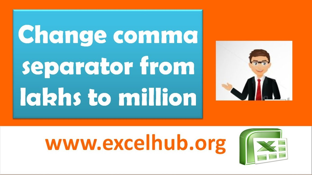 Change The Comma Separator From Lakhs To Million