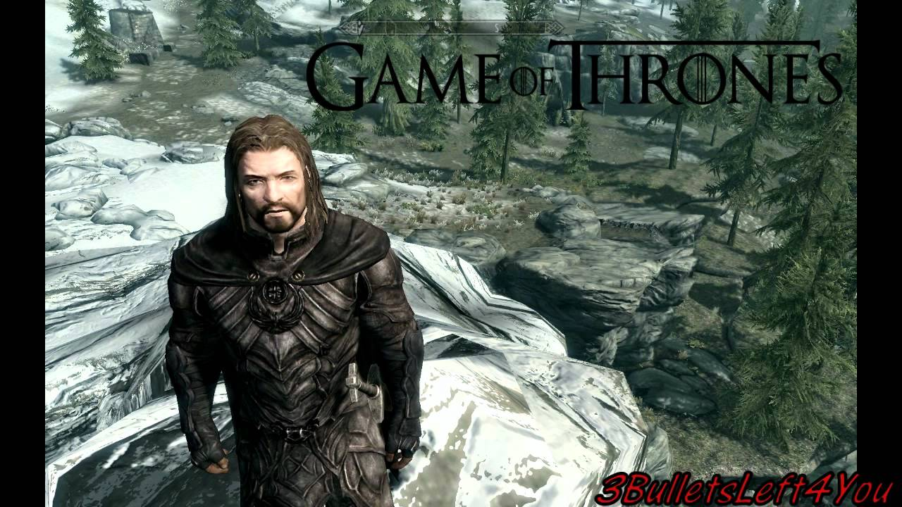 Play as Ned Stark in Skyrim (Game of Thrones) - YouTube