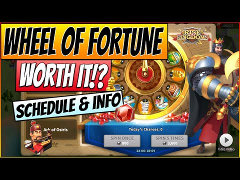 Rise of Kingdoms - MAX SPINNING RICHARD WHEEL - Wheel of Fortune Event explained