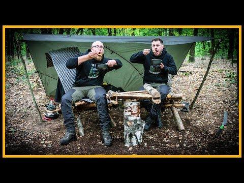 Bushcraft Camp [S05/E04] Tisch gebaut und jut gegessen - Outdoor Bushcraft Deutschland