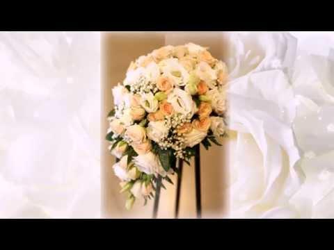 Свадебный букет с орхидеей Венерин башмачок, розами и