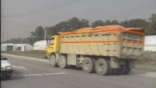 한국의 도로교통 및 자동차 관련문제 및 실태 영상 - 덤프트럭 및 곡물트럭 관련실태(1990년 9-11월)