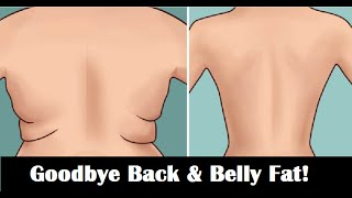 How To Lose Back and Belly Fat in 7 Days Naturally  (3 simple workout moves!)
