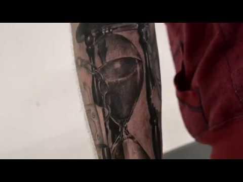 tatouage sablier timelapse youtube. Black Bedroom Furniture Sets. Home Design Ideas