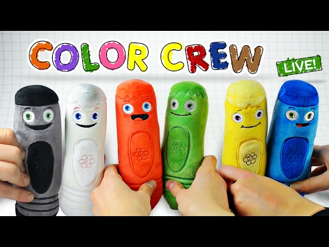 Learn Colors with COLOR CREW Soft Toys for Kids   All Of The Colors   Color Crew Live   BabyFirst TV