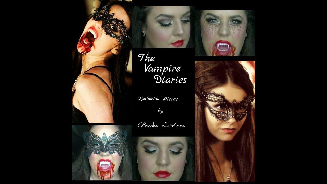The Vampire Diaries: Katherine/Elena makeup look - YouTube