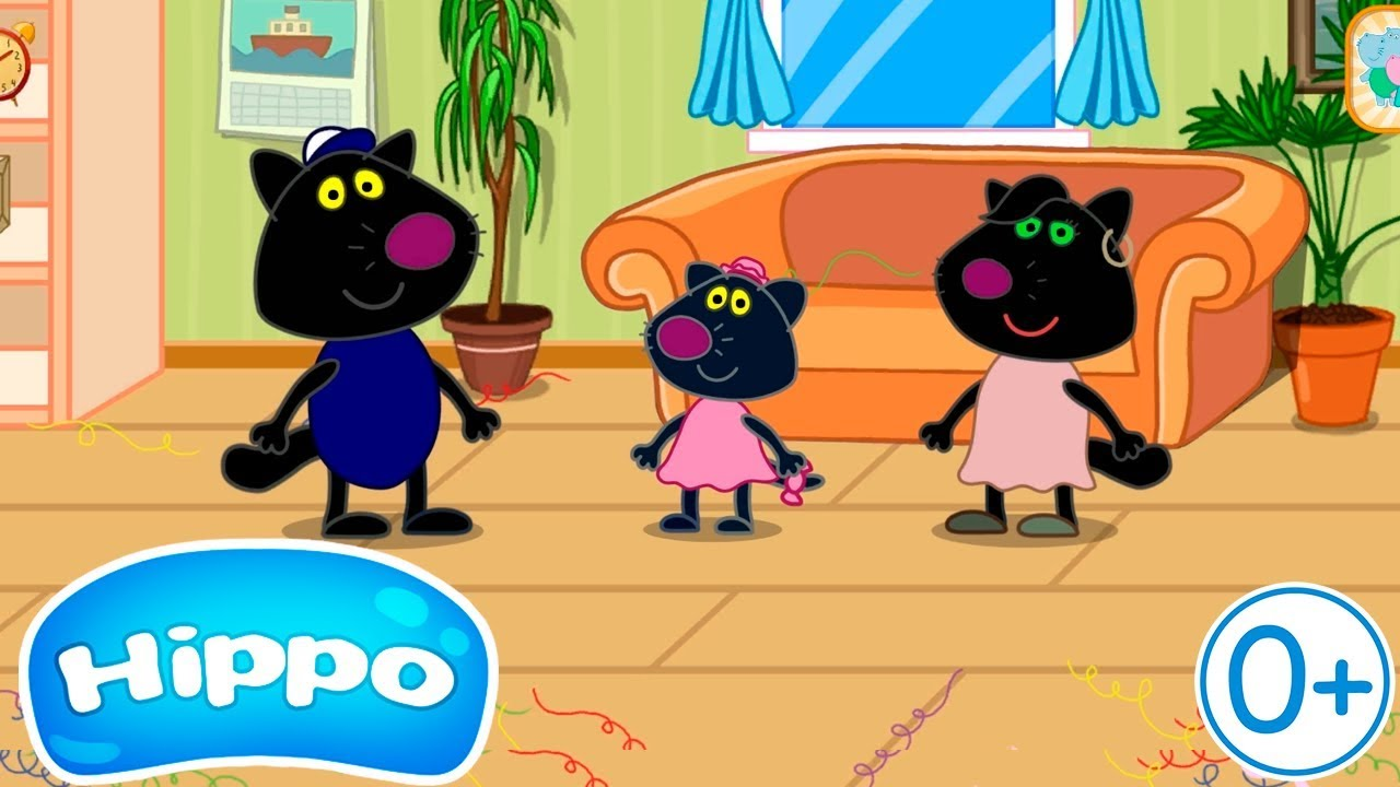 Гиппо 🌼 День Рождения 🌼 Семья Чёрных котов 🌼 Обзор игры (Hippo)