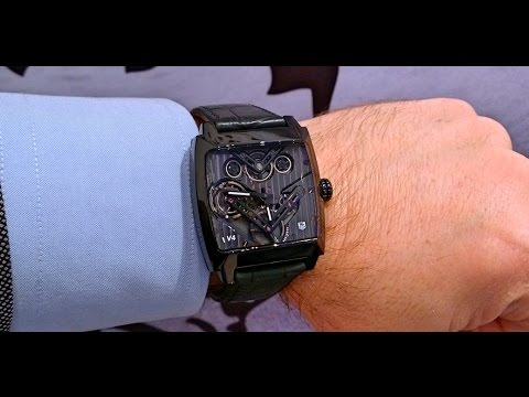 ac3acbc3344 TAG Heuer Monaco V4 Tourbillon - YouTube