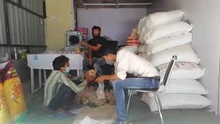 COVID Relief- Food items packing
