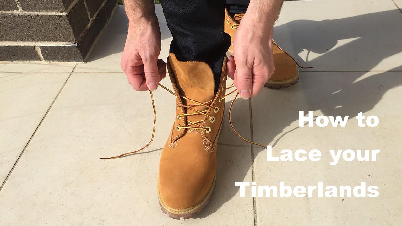 Estragos prima estilo  How to lace your Timberlands - YouTube