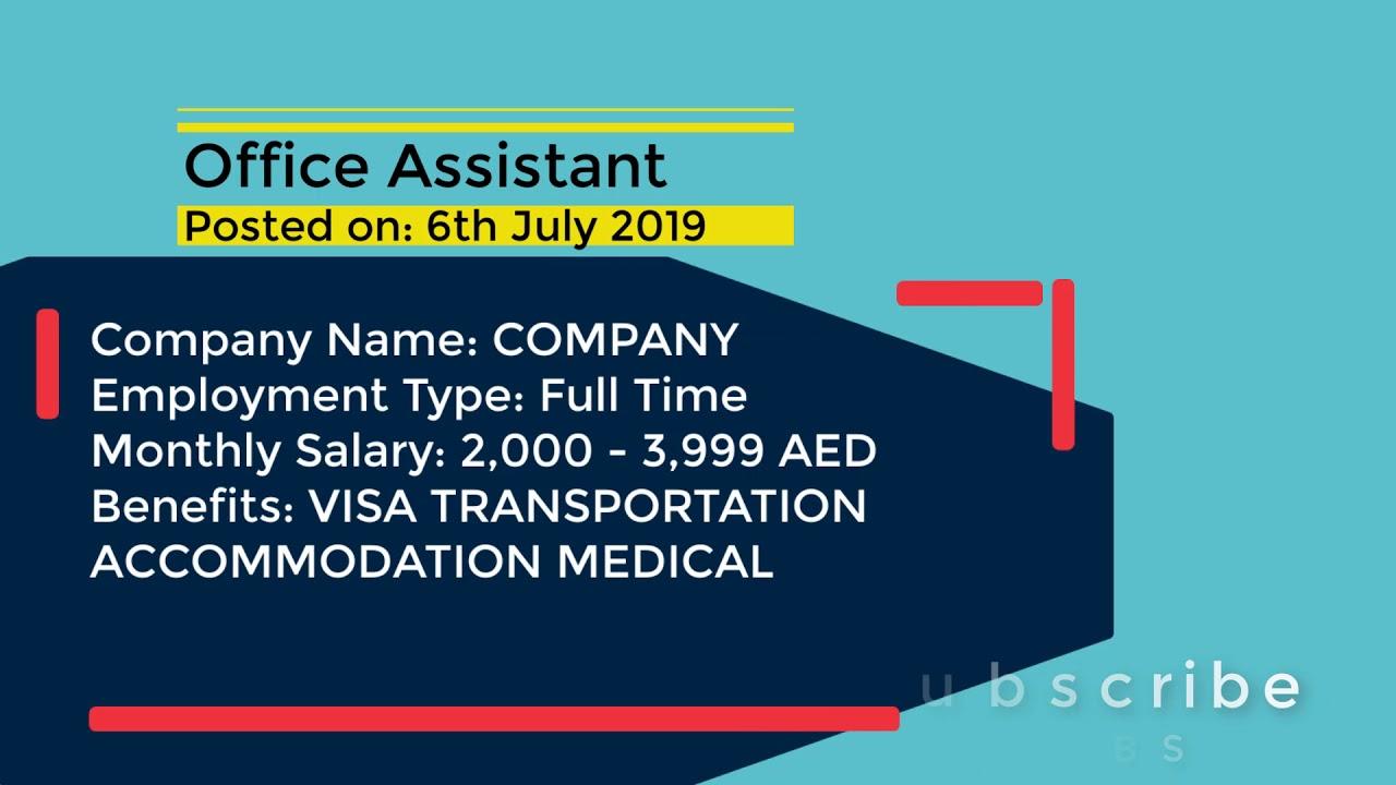 Today job vacancies in UAE Dubai Abudhabi Sharjah - Top jobs posted on 6th  July 2019