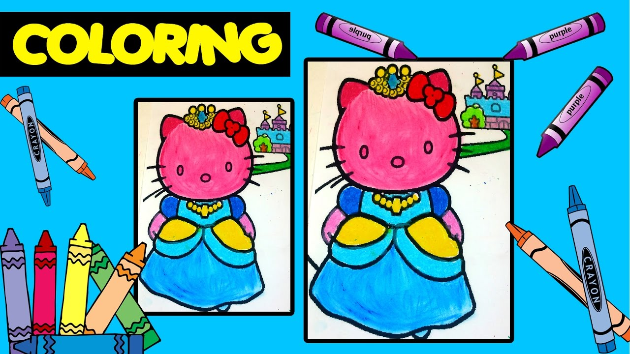 Teach Coloring Hello Kitty GIANT Queen Coloring Page Crayola ...