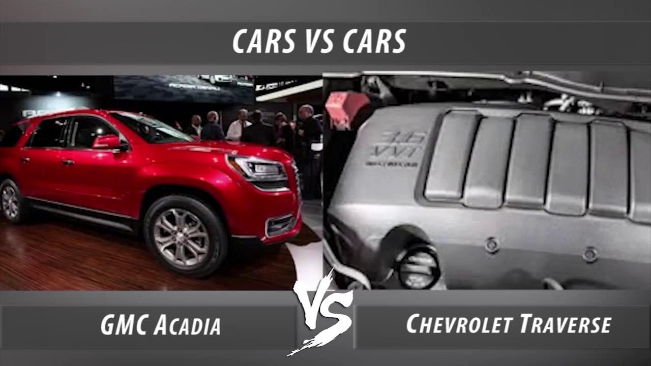 Gmc Acadia Vs Chevrolet Traverse