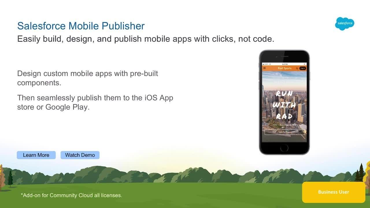 Salesforce Mobile Publisher