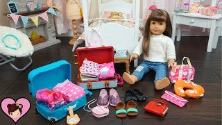 Packing My Dolls Bags for Vacation - AG Doll Clothes & Travel Luggage Accesories