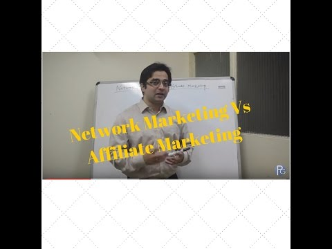Network Marketing Vs Affilate Marketing Clearing The Confusion (Video 27 of 90)