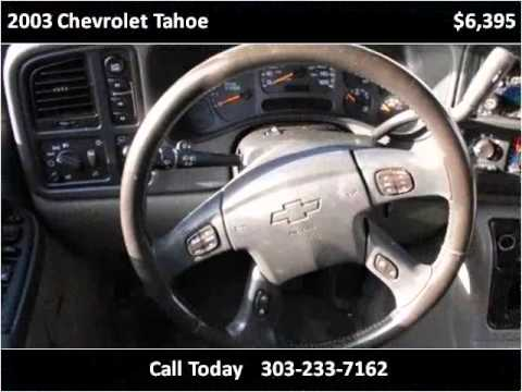 2003 chevrolet tahoe used cars lakewood co youtube for Happy motors inc lakewood co