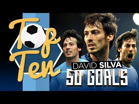 TOP 10 David Silva Premier League Goals!