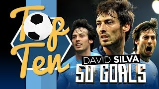 TOP 10 David Silva Premier League Goals!