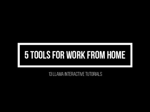 5 Tools for work from home